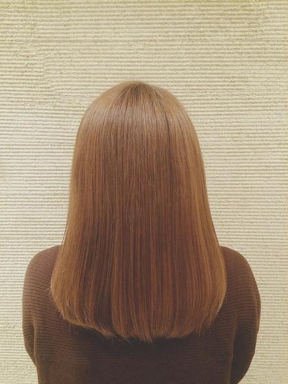 ハイダメージ毛でも 毛先までうるつや  トリートメントしながらの縮毛矯正で 広がりもうねりもお悩み解決です LUCKbykiki所属・野呂田ひかるのスタイル