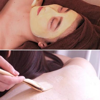 ブライダルにも❤【背中&フェイシャルの同時施術】ピーリング込み☆肌質改善パックコース