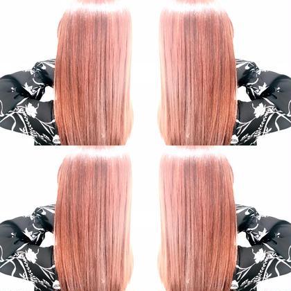 #ピンク CHIMANのロングのヘアスタイル