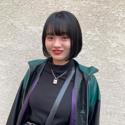 😈韓国風ボブ、タンバルモリ、ブルーブラック😈