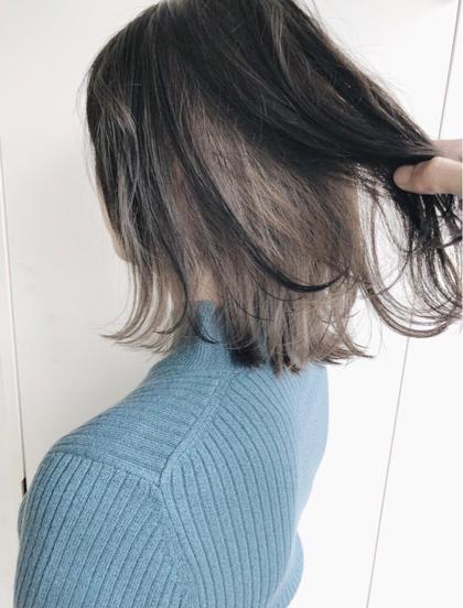 インナーカラー☆グレージュ 菅原誠のヘアスタイル・ヘアカタログ