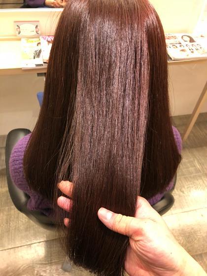 春カラー!  季節の色味の暖色のルビーバイオレット!  しかもトリートメントで髪はツヤツヤです! イマジン経堂所属・久保勇樹のスタイル