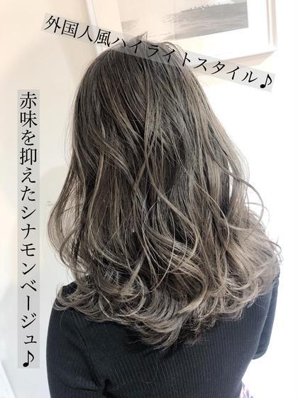 【💖ハイセンスメニュー💖】カット+ハイライトカラー+イルミナorアディクシーカラー+TOKIOトリートメント