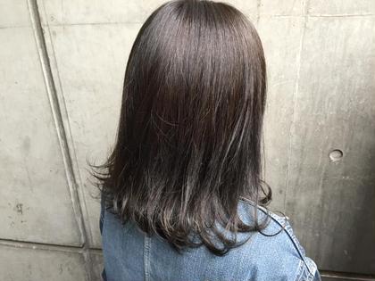 暗いけど透明感のあるカラー✨ ZEST八王子店所属・寒河江友花のスタイル