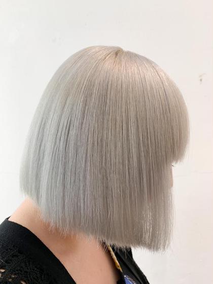 3️⃣全体ブリ👑新規限定👑前髪カット代なし‼️ホワイトケアブリ×2+ホワイトカラー+選べる3stpトリ+前髪カット