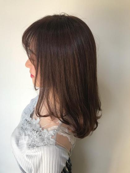 🎉人気メニュー🎉前髪カット😝 + 透明感抜群イルミナカラー💈+髪質改善ケアトリートメント💆