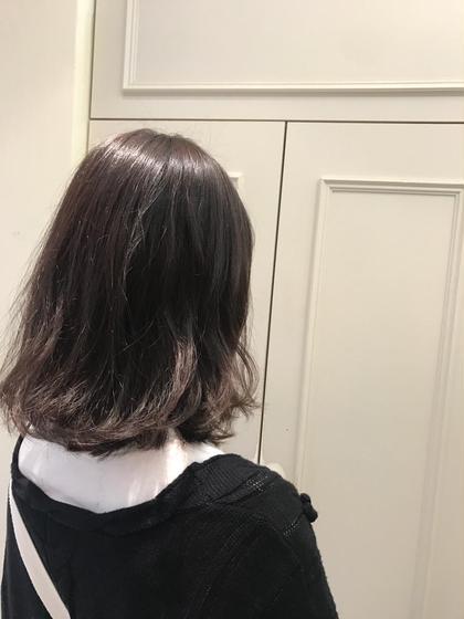 カラー ヘアアレンジ ミディアム   ブルーアッシュ♡  透明感たっぷりですごく可愛いです!!