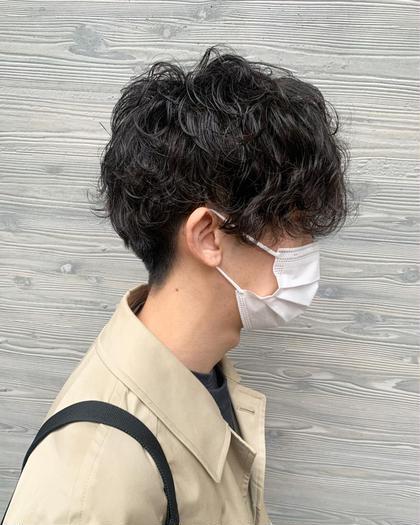 【⭐︎✂︎メンズカットパーマコース✂︎⭐︎】🌟カット+パーマ+炭酸ケア🌟9時-17時🌟¥8866+指名料¥330