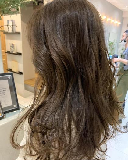 💡王道モテヘア ワンカラー💡 ブリーチなしの明るめベージュ、オリーブベージュ🧃+髪質改善トリートメント