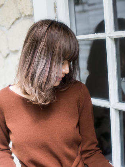 前髪カットでイメチェン🌟前髪カット+カラー