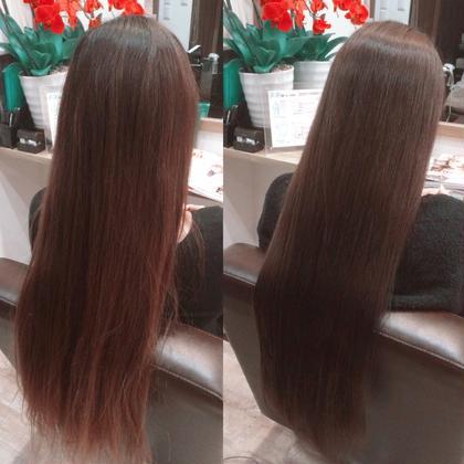 カラーがマット系です(^∇^)水素トリートメントでこんなにも変わります( ´ ▽ ` )ノ ALMO  hair design所属・小林優のスタイル