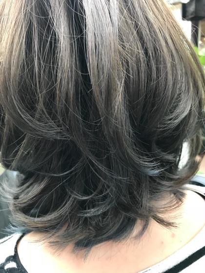 外国人風カラー グレー 美容室 K-1所属・山口卓恭のスタイル