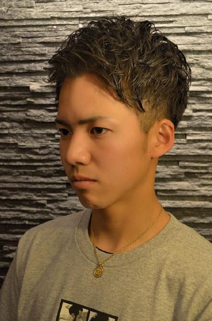 アップバングパーマ hiroginza田町所属・岩間佳祐副店長のスタイル