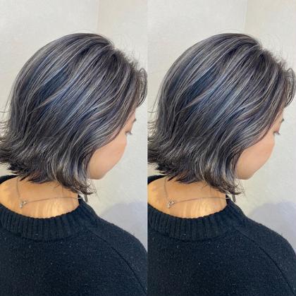 🤍動きのある髪へ🤍ハイライト+透明感カラー+メンテナンスカット