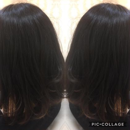 カラー セミロング パーマ ミディアム 【艶髪ナチュラルグラデーション】