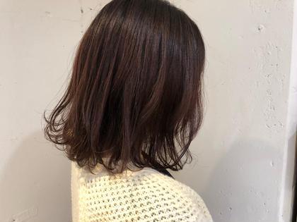 ほんのりピンクで 柔らかさとツヤ感アップです❤︎ 木村風子のミディアムのヘアスタイル