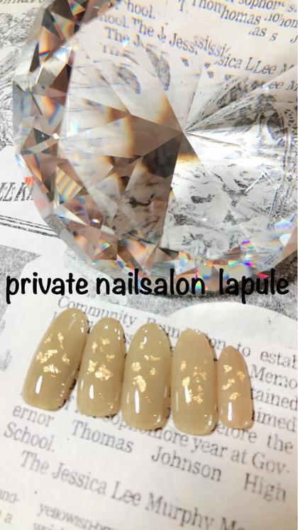 シンプルに金箔を✨ パラジェル203色より カラーチェンジも出来ます♡ privatenailsalon lapule所属・羽石真莉奈のフォト