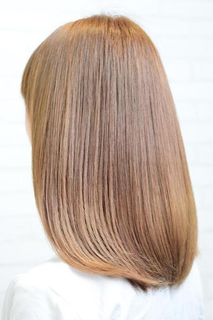 ブリーチしてますが、このツヤ感です!  hair dress V.I.E.W所属・井上翔のスタイル