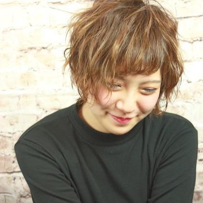 ウェーブショート shampoo boy aims所属・近藤真理子のスタイル