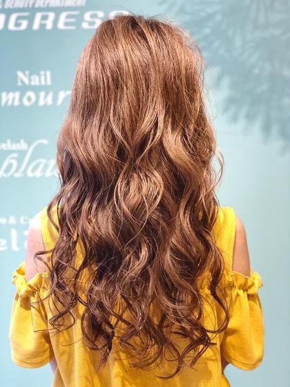 【外人風カラー】ブリーチonツヤ髪カラー+デザインカット+ディアージュトリートメント