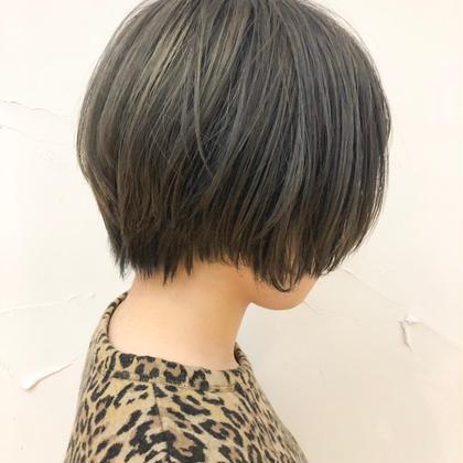 [学生限定!!平日14時以降のみ]小顔カット+透明感カラー