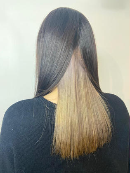 💛🐻❄️価格改定前💥4月限定10代20代🐻❄💛インナーブリーチ+艶髪カラー(ロング¥500~1000)