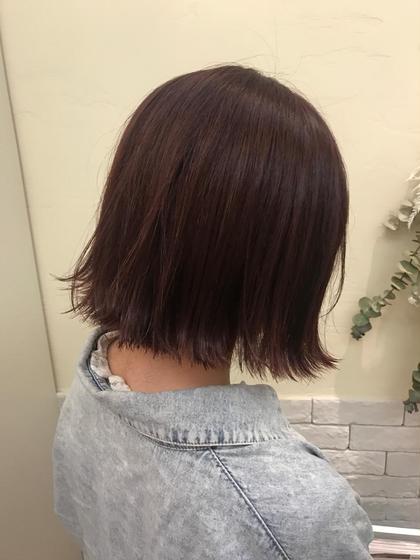 カラー ショート 切りっぱなしボブ☆  スタイリングも簡単で可愛いです!!!