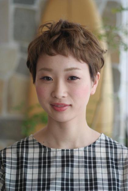 ベリーショート☆ パーマをかけてくせ毛風に。 SHEL所属・石川ミカのスタイル