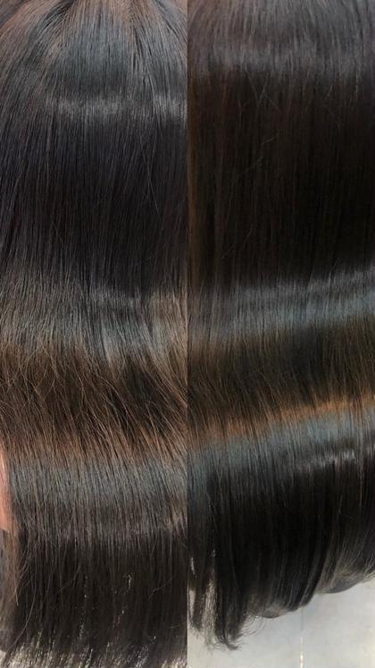 髪質改善前→髪質改善2回完了