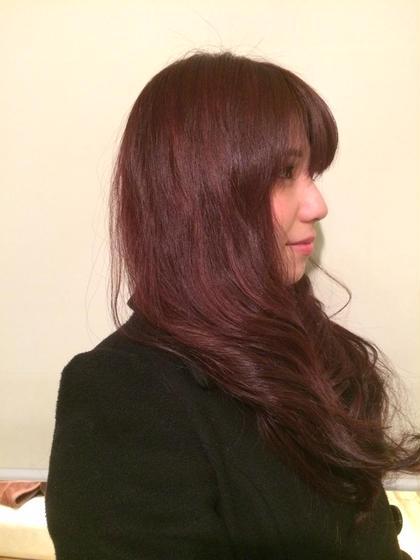 赤よりのヴァイオレット。 Hair&make eida所属・村上皐太のスタイル