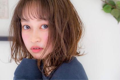 【🌈✨新規様初回限定✨🌈】小顔前髪カット & 低ダメージカラー✨ & 集中補修ハホニコトリートメント