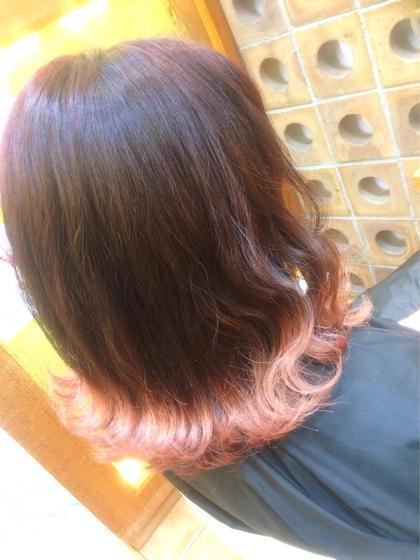 ♢巻き髪美人に♢全体ブリーチは怖いけど…毛先は色々なカラーを楽しみたい方にも! 【グラデーションカラー】 《新規限定》
