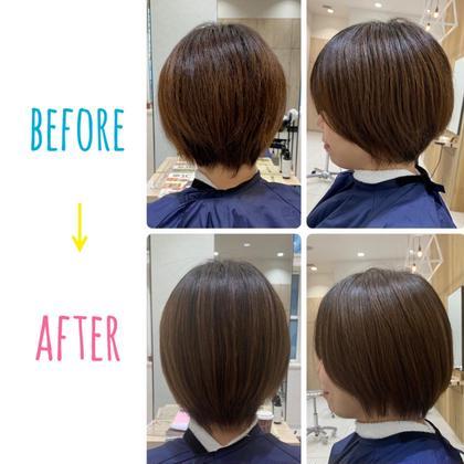 パーマ 膨らみやすい髪質の方へ☘️ ソフト矯正でやさしくボリュームダウン😌💕