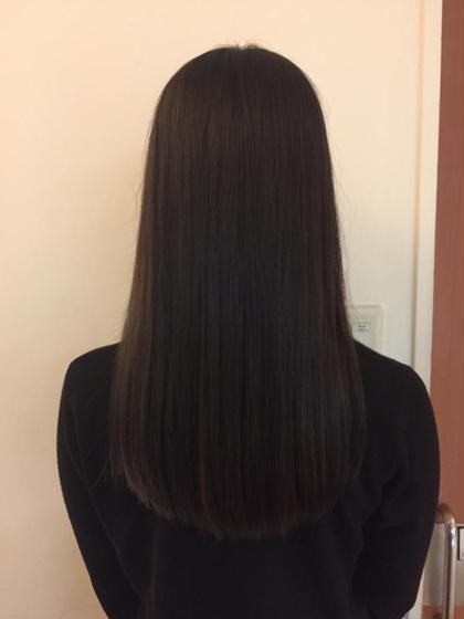 抜け切ったオレンジの髪を濃いめのグレージュに serio三谷店所属・牧野志帆のスタイル