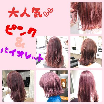 今大人気のピンク系、バイオレット系カラーです💥 ❣️モテ髪No.1八木弥那己❣️のヘアスタイル・ヘアカタログ