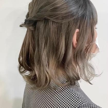 [🕊パーソナルカラー診断付き🕊]透明感カラー + 選べる2種の炭酸ヘッドスパ  + 前髪カット