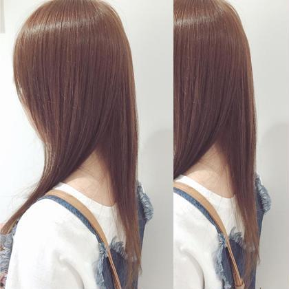 明るめ暖色ブラウン♡! トーンアップして夏らしく⭐️ トリートメントもしてサラツヤに♩ LuLu by KENJE所属・すなだはるかのスタイル