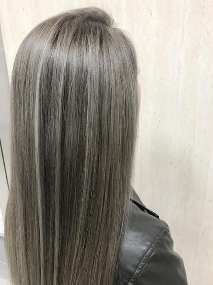 カラー ロング ミルクティーグレージュ☆3Dハイライト