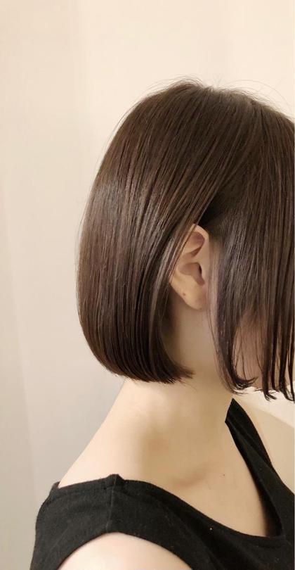 前髪カット+イルミナorアディクシーカラー+ハホニコ3STEPトリートメント