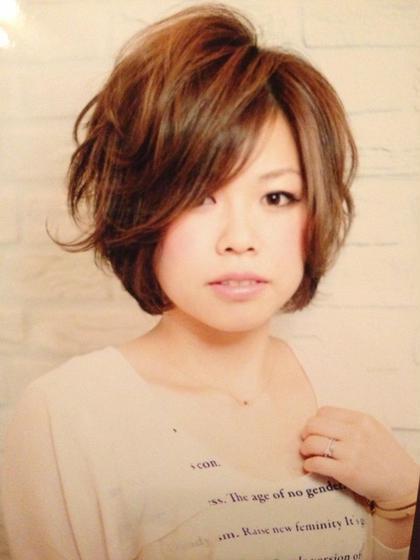 ショートボブ&最旬イノセントカラー hair brace(ヘアーブレイス)所属・山上太一のスタイル