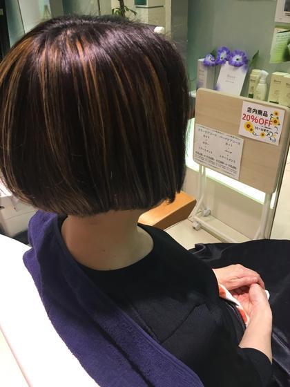 ハイライトで軽さを出しました(^_^) TELLACELUXBEJR西宮店所属・川本あゆのスタイル