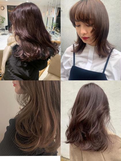 人気No.❸🌿【透明感ココア ブラウン系】カラー➕髪質改善シャンプー➕トリートメント