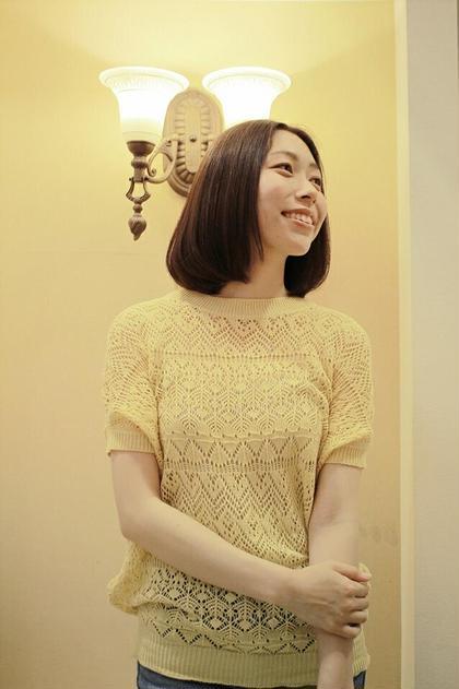 大人っぽいロングボブです。 HAIR JENNY所属・芦田武栄のスタイル