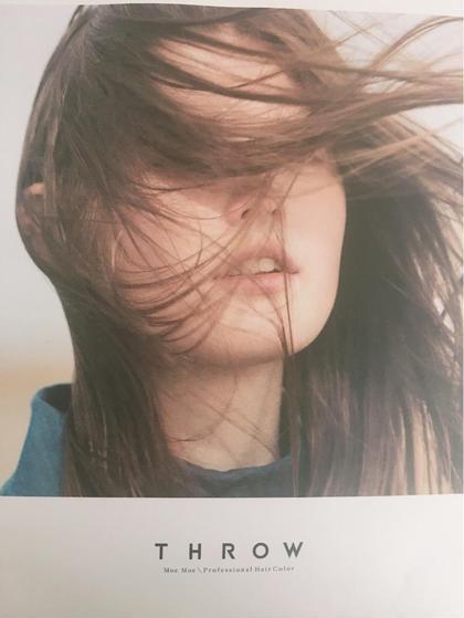 カラー剤はTHROWを使っています。 ROUNGE HAIR所属・sakaiharunaのスタイル