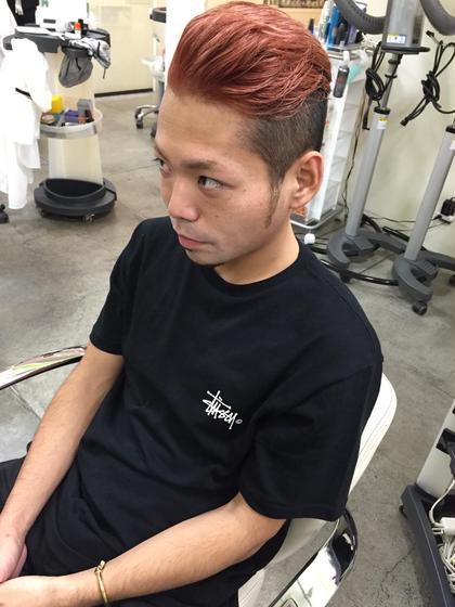 ブリーチ2回、wカラー。 hairmake newyork 根津店所属・オオツカヨシタカのスタイル