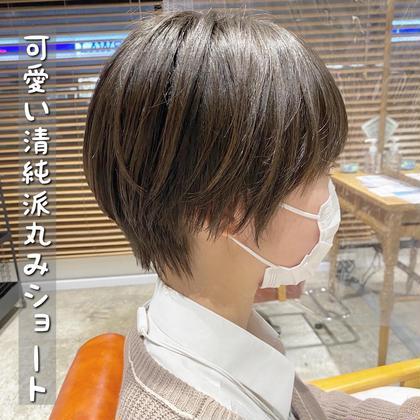 【✨超お得‼️5月平日限定✨】小顔カット+カラー+サラサラトリートメント5500円🔥