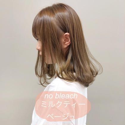 ❤️ミニモ限定❤️カット+透明感カラー+ハホニコトリートメント(コテ巻き仕上げ✨)