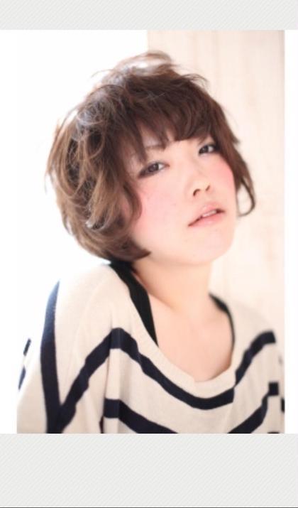 ナチュラルショート✨コテでもできますがパーマをした方が楽にスタイリングできます! MODE K's阿倍野店所属・伊藤サダキのスタイル