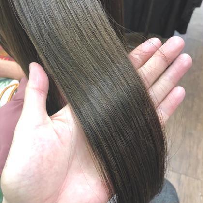 【髪質改善ツヤ髪カラー】ヘアカラー&oggi ottoトリートメント&希望で前髪カット