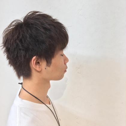 カット+カラー!!  マッシュ感を出しプラチナブラウンで透明感のある髪に!!  Lia by KENJE所属・清水大誠のスタイル